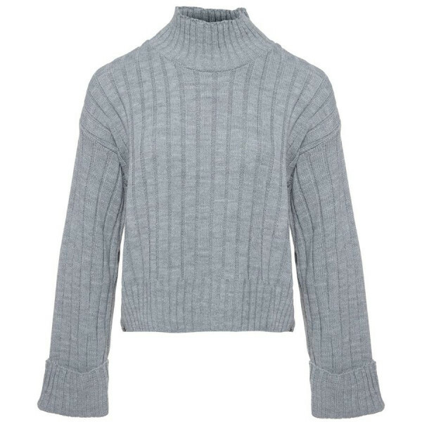 BASIC TURTLE SWEATER GREY