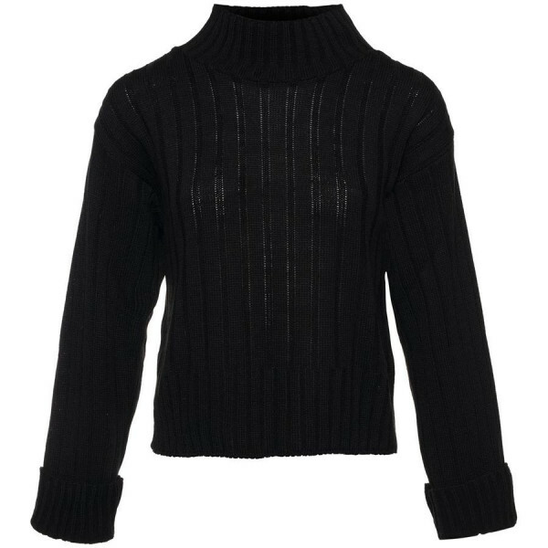 BASIC TURTLE SWEATER BLACK