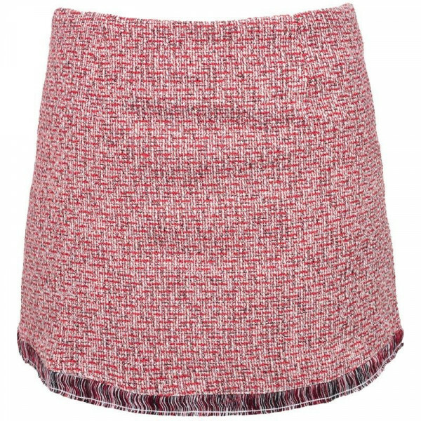 TWEED SKIRT RED