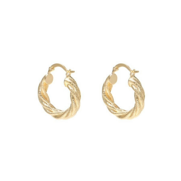 TWISTED HOOP EARRINGS GOLD