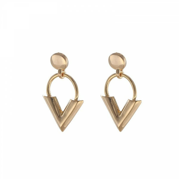TRENDY V EARRINGS GOLD