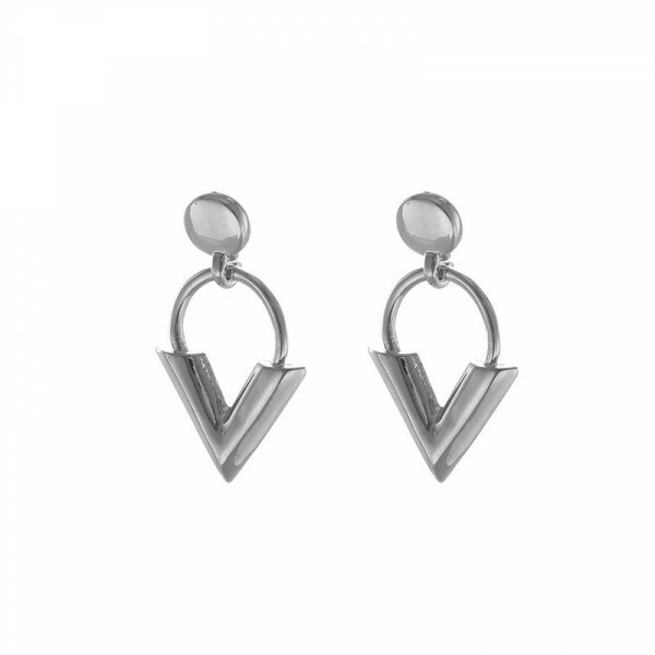 TRENDY V EARRINGS SILVER