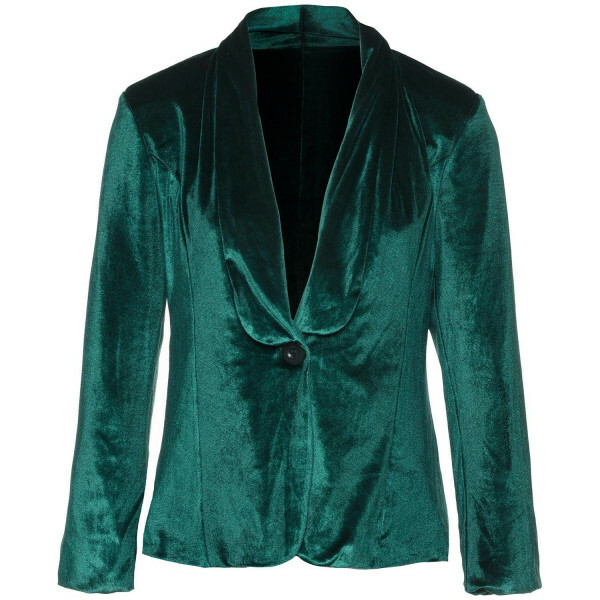 GREEN VELVET BOSS BLAZER