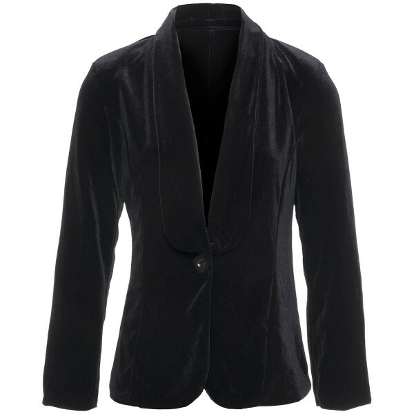 BLACK VELVET BOSS BLAZER