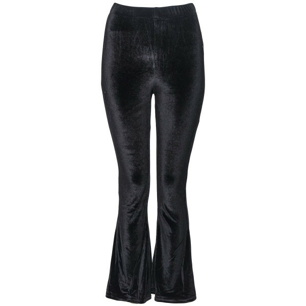 BLACK VELVET FLAIR PANTS