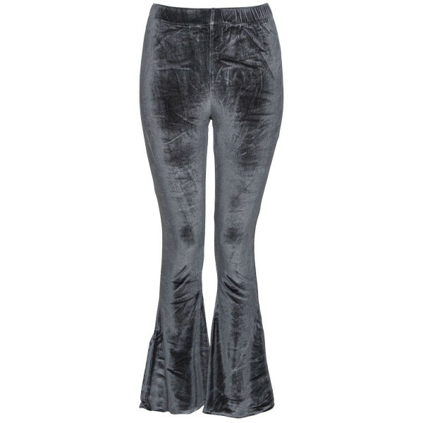 GREY VELVET FLAIR PANTS