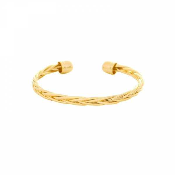 GOLD BRAIDED BANGLE