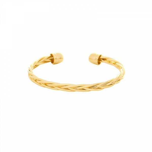 GOLD BRAIDED BANGLE