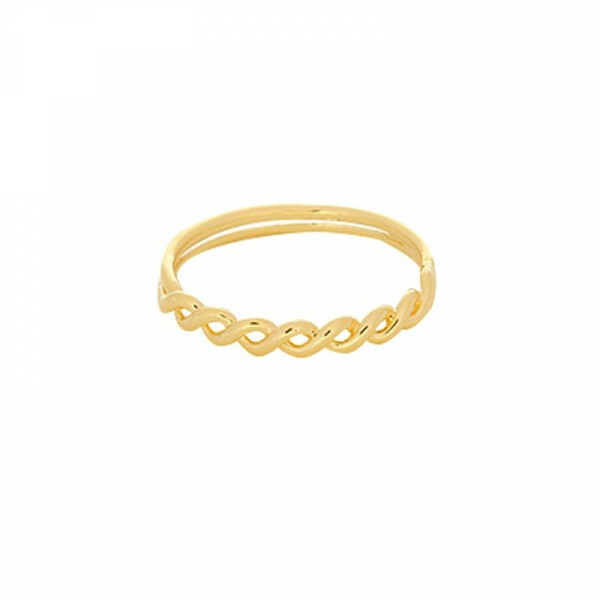 GOLD WAVY RING