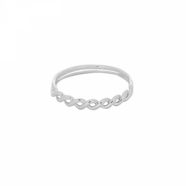 SILVER WAVY RING