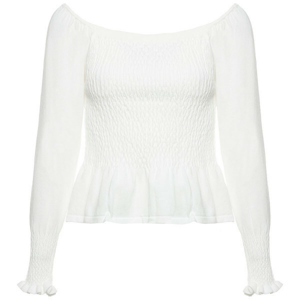 WITTE OFF SHOULDER TOP