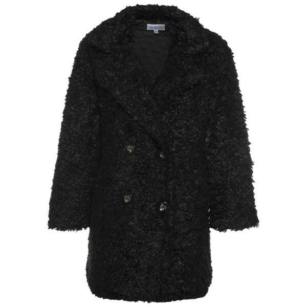 FLUFFY COAT BLACK