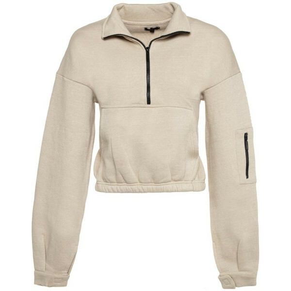 ZIP UP SWEATER BEIGE