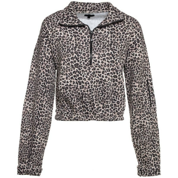 ZIP UP SWEATER LEOPARD