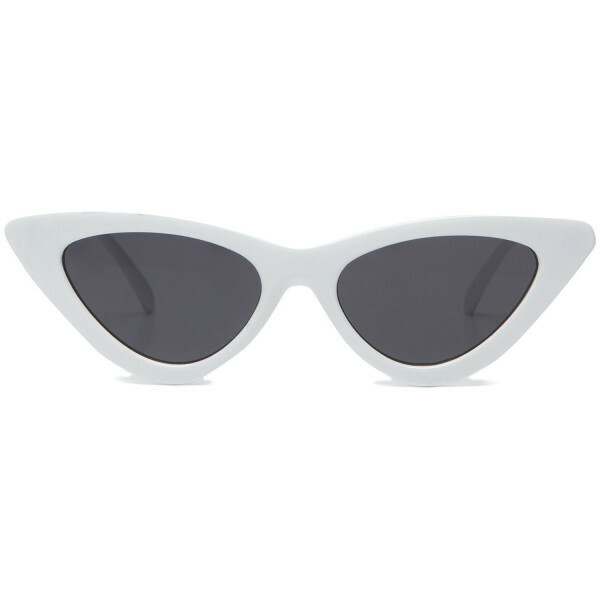 FANCY CATEYE SUNNIES WHITE