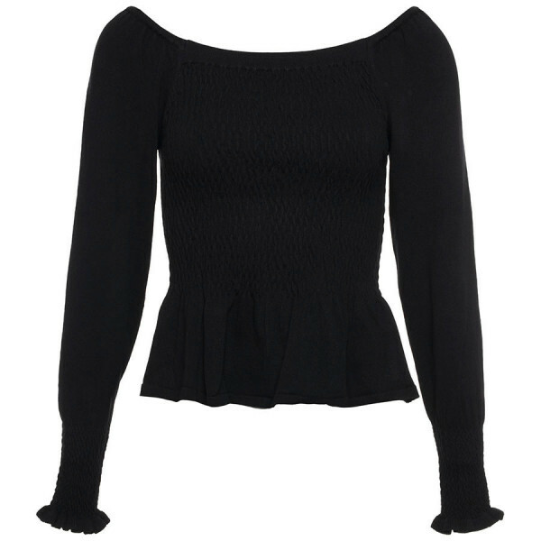 ZWARTE OFF SHOULDER TOP