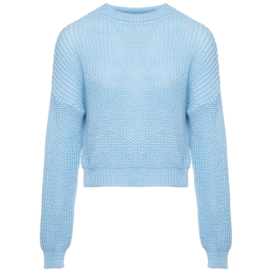 Blauwe gebreide trui Truien & Sweaters ComeGetFashion