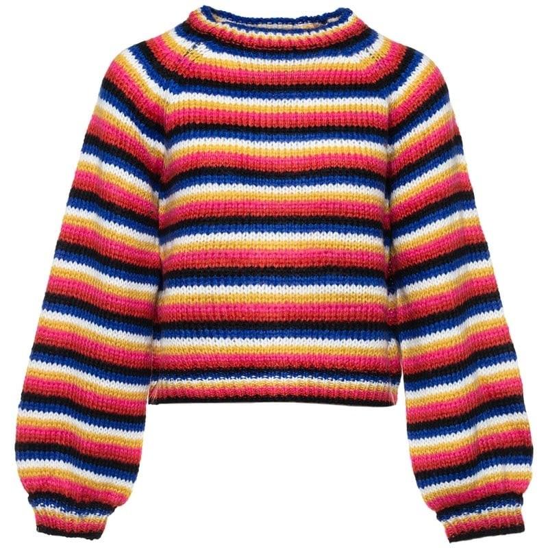 b573f7e0b0f55b Sweater gebreid regenboog kleuren - Truien   Sweaters - ComeGetFashion