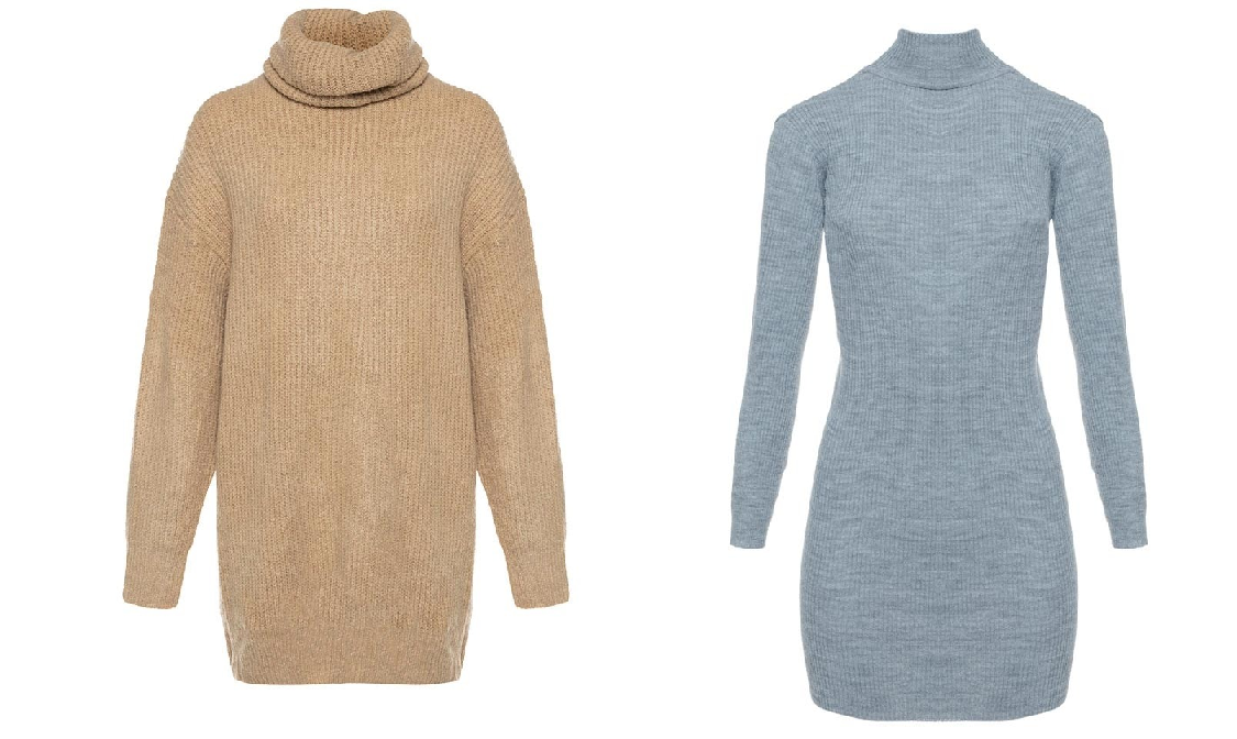 Verschillende varianten van de sweater dress