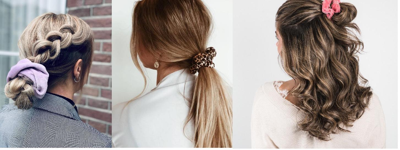 Haarstijlen met scrunchies