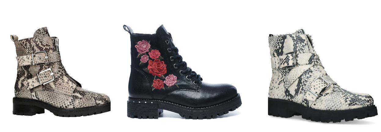 biker boots met printjes