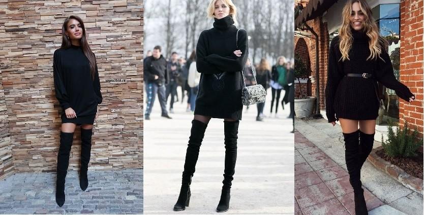 Sweaterdress zwart
