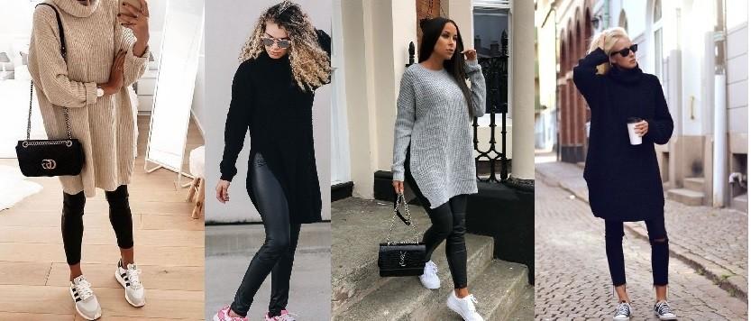 Sweaterdress zwart legging