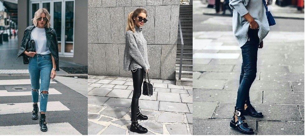 Biker boots outfit edgy