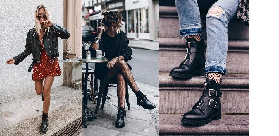 Outfit biker boots stoer