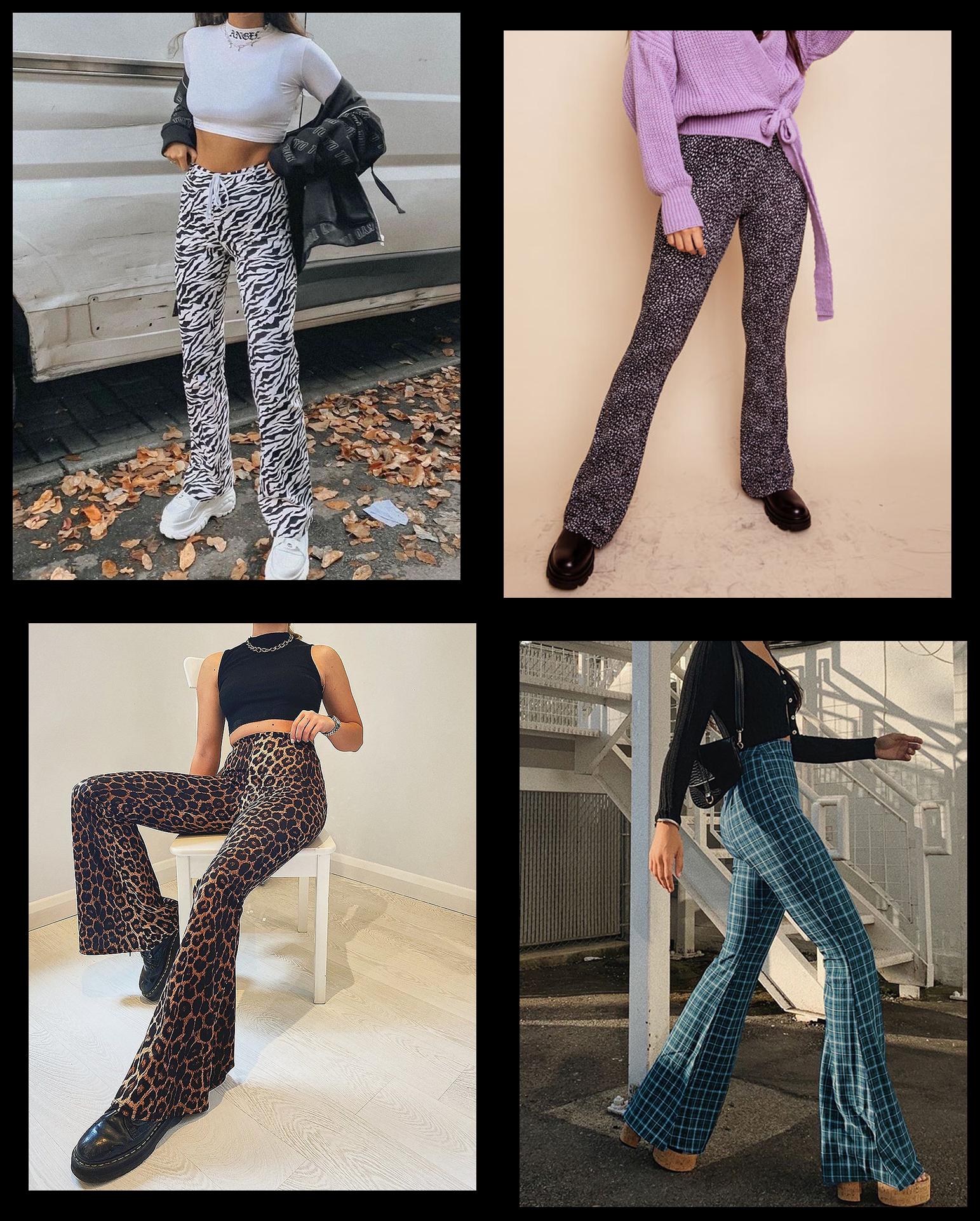 Flared broeken met print