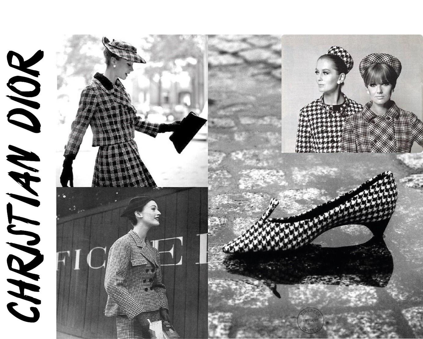 Pied de poule Christian Dior
