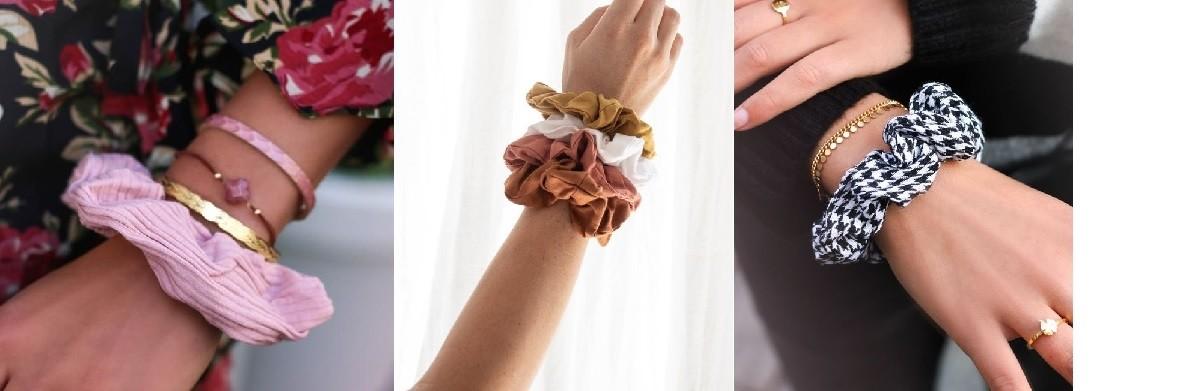 Scrunchie als armband