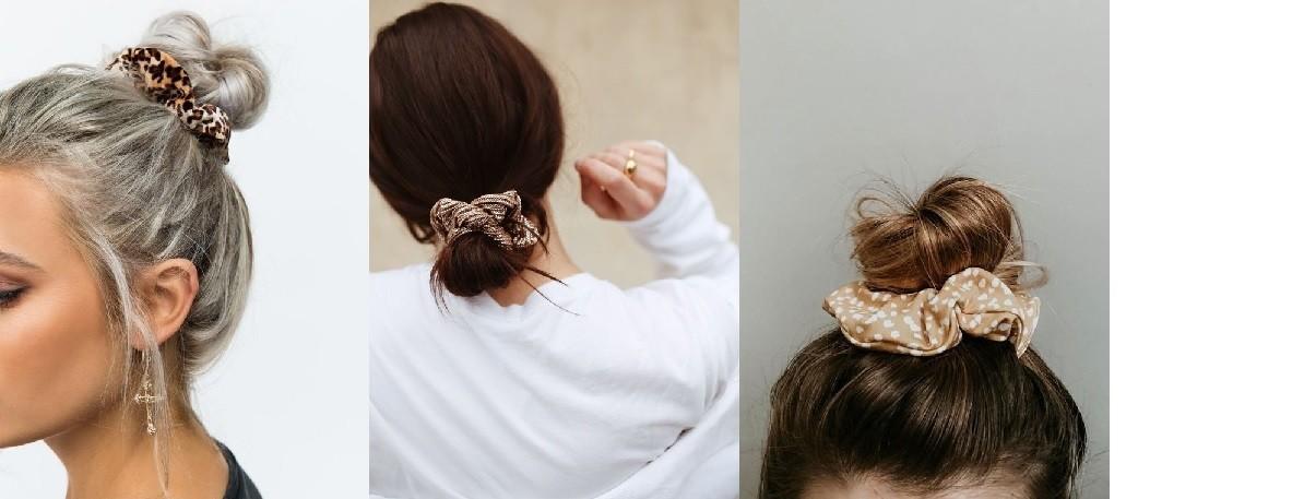 Haarstyle scrunchie knot