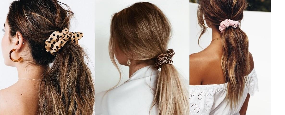 Haarstyle scrunchie staart
