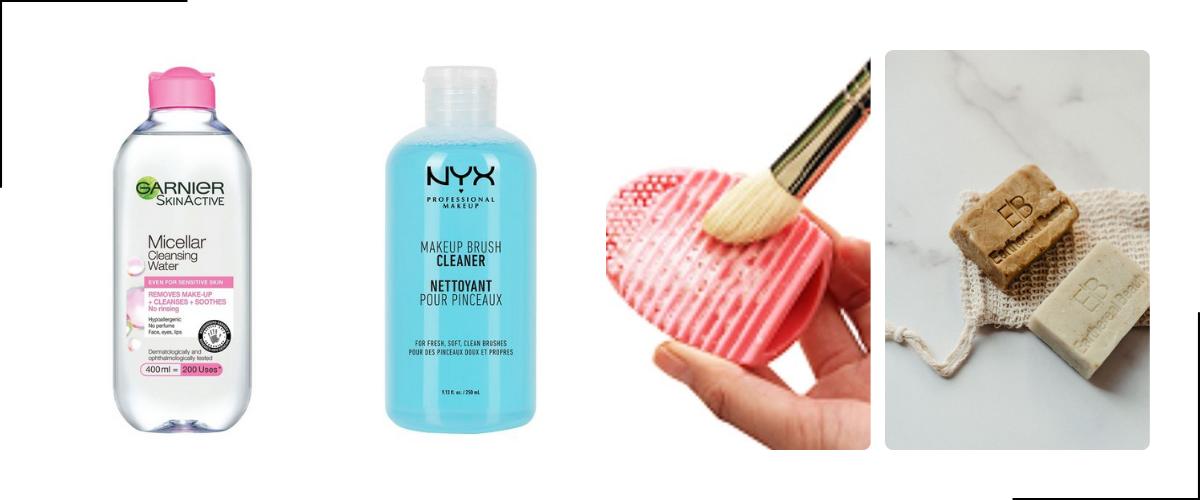 make up kwasten schoonmaken