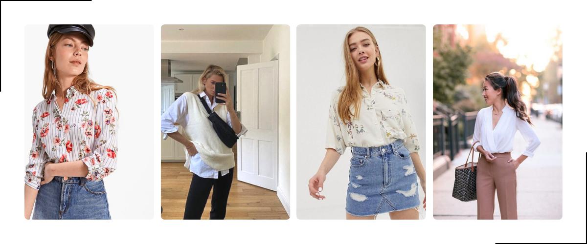 Driekwart mouw blouse